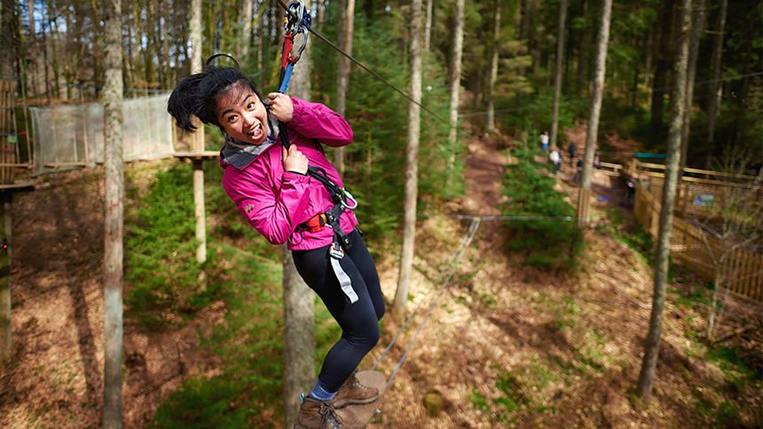 Go Ape Adventure. 10% NHS discount