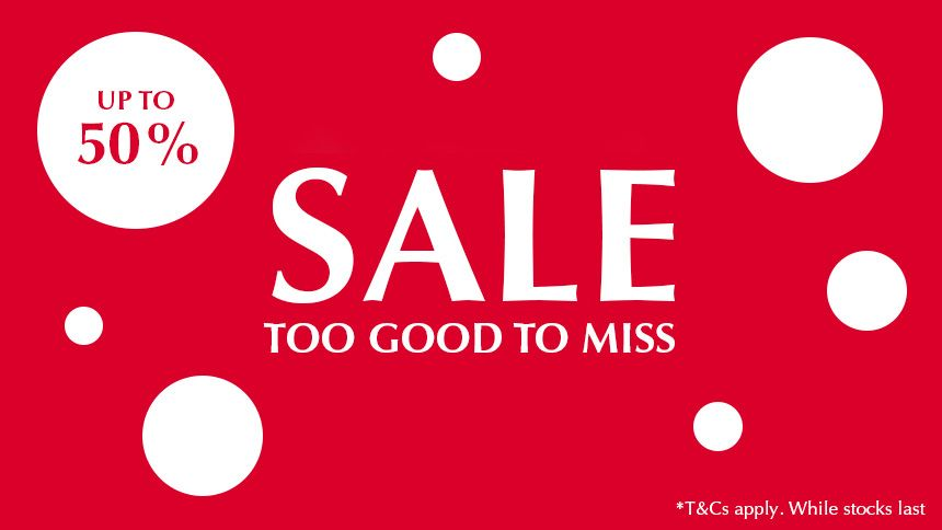 Summer Sale Now On. Up to 50% off