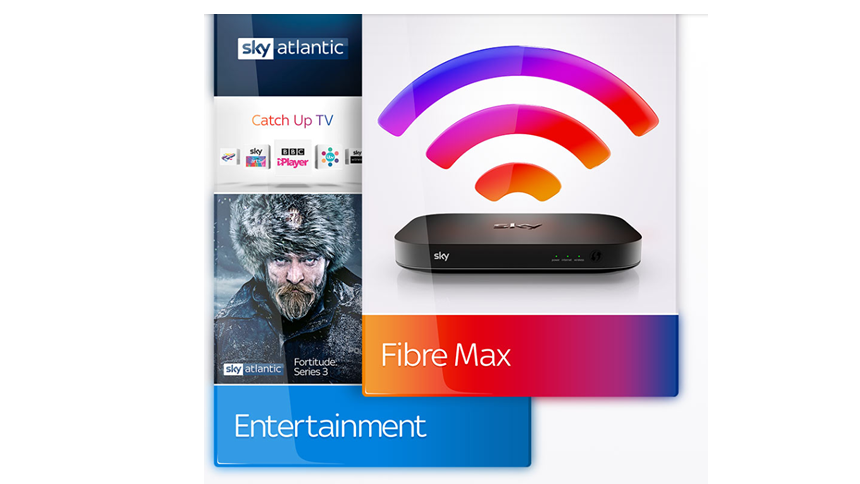 Sky Entertainment + Fibre Unlimited. £40 a month for 18 months