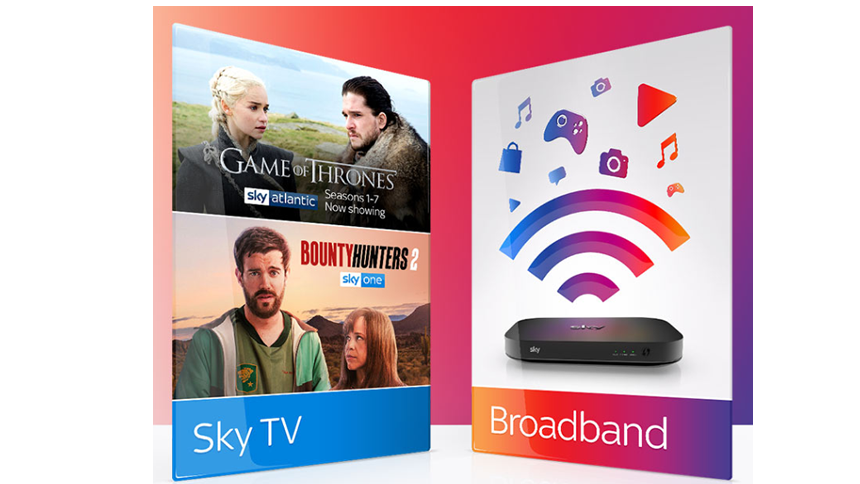 Sky Broadband & TV. £33 a month