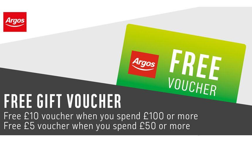 Argos. Free gift voucher