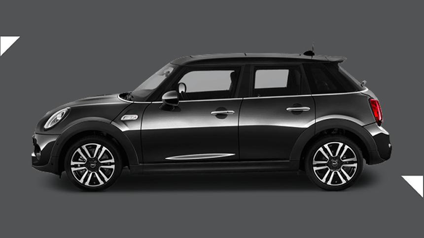 Mini Hatchback. £180 per month inc VAT + 1,000 free excess miles¹