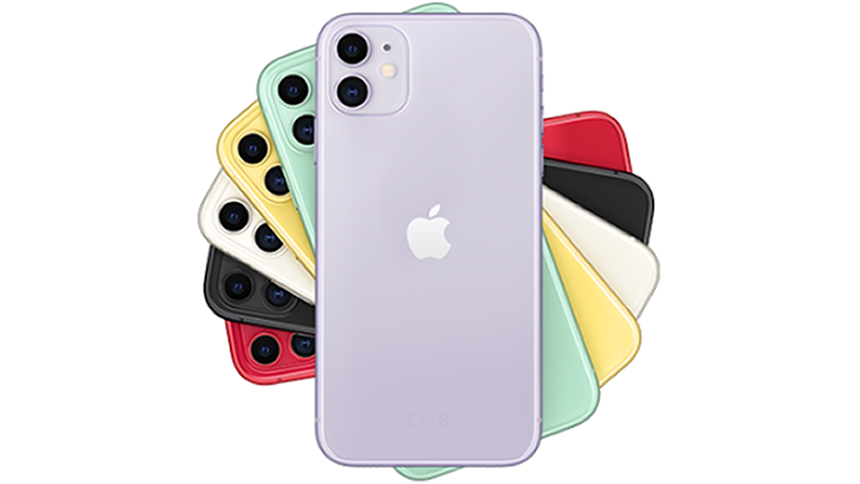 iPhone 11. £51.20 a month + £10 upfront cost