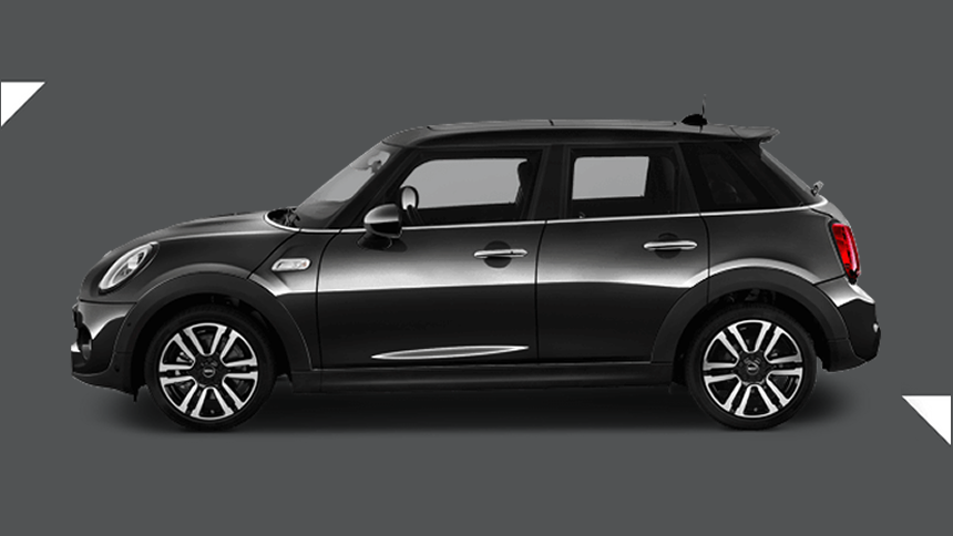 Mini Hatchback. £189 per month inc VAT + 1,000 free excess miles¹