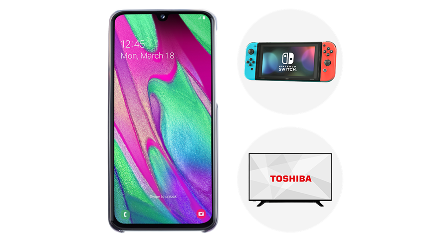 "Samsung A40. FREE 43"" Toshiba TV or Nintendo Switch"